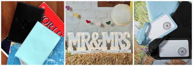 Changing your name passport, Mr and Mrs sign and luggage tags | Confetti.co.uk