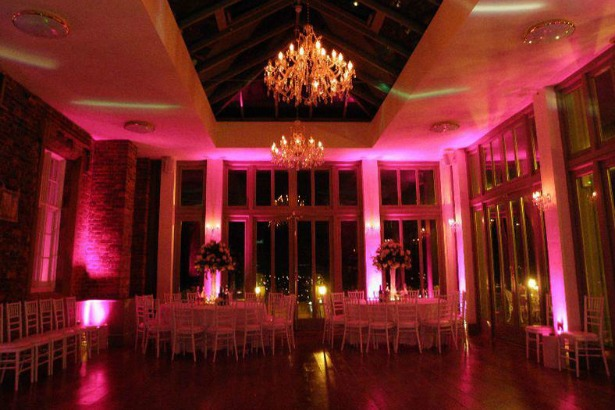 Pink lighting by Smile Events   Confetti.co.uk