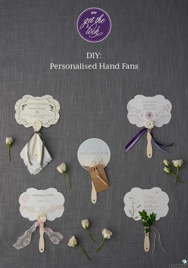 DIY Personalised Hand Fans | Confetti.co.uk