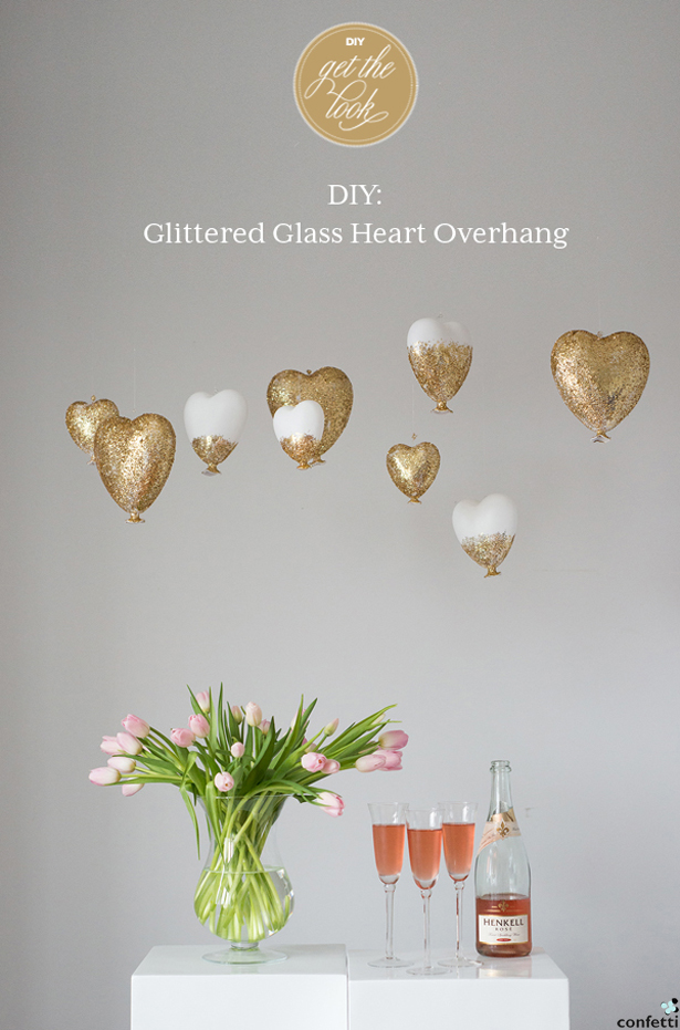 Glittered Glass Heart DIY Overhang | Confetti.co.uk