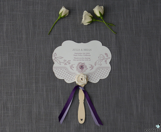 Purple Floral Fan | Confetti.co.uk