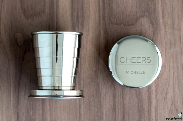 Personalised Collapsible Shot Glasses | Confetti.co.uk