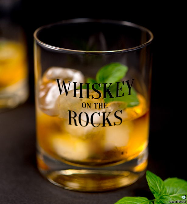 Personalised Whisky on the Rocks Glass | Confetti.co.uk
