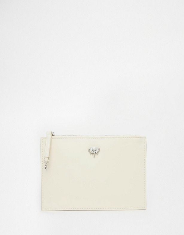 Johnny Loves Rosie Clutch with Jewel Embellishment  | Confetti.co.uk