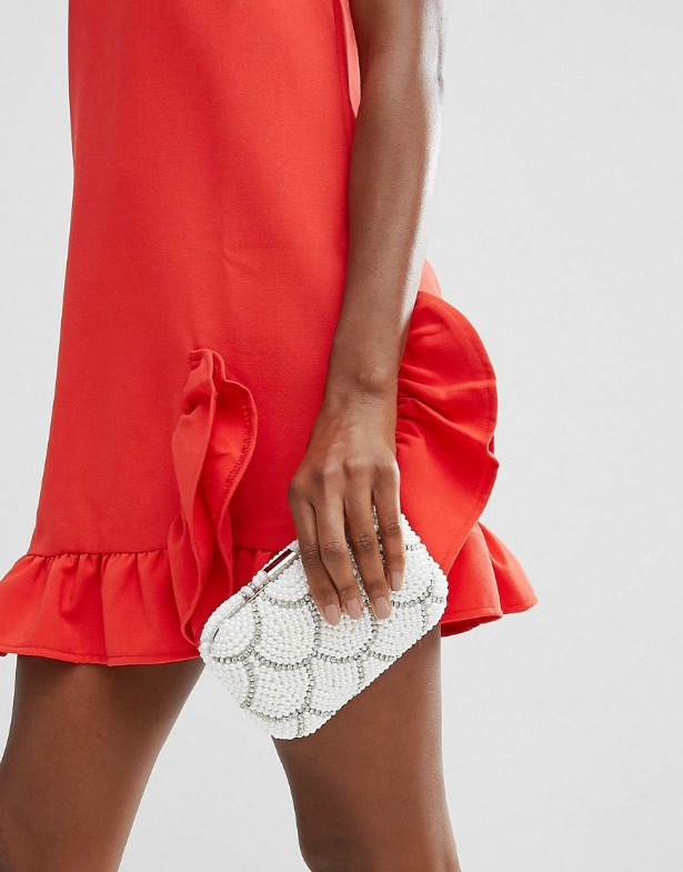 New Look pearl sparkle clutch bag   Confetti.co.uk