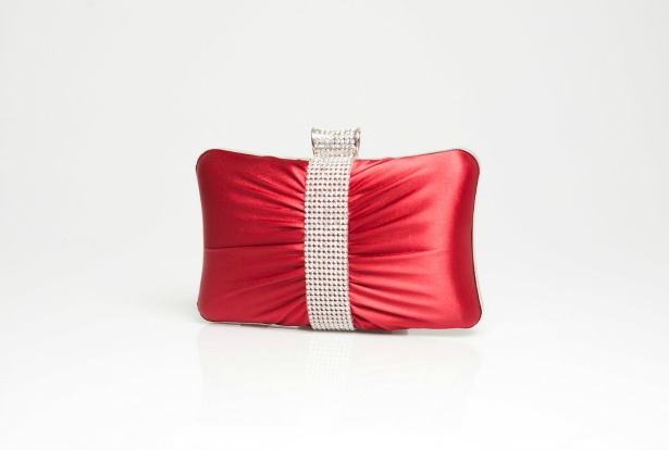 Red and silver sparkle bridal bag by Crystal Couture | Confetti.co.uk