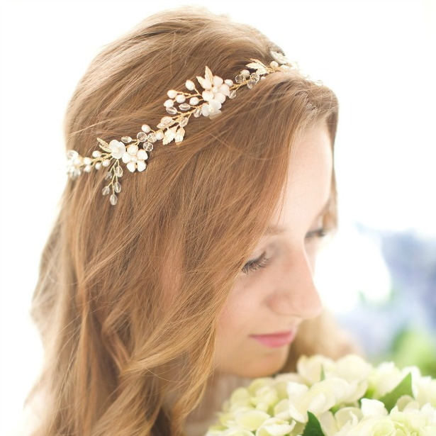 Handmade vontage shell-flower crystal vines headband | Confetti.co.uk