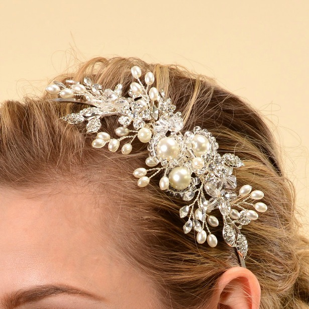 Crystal bridal headband | Confetti.co.uk