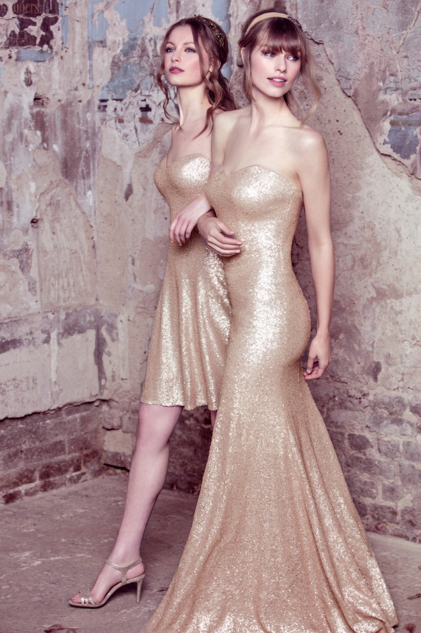 Kelsey Rose gold bridesmaid dresses | Confetti.co.uk