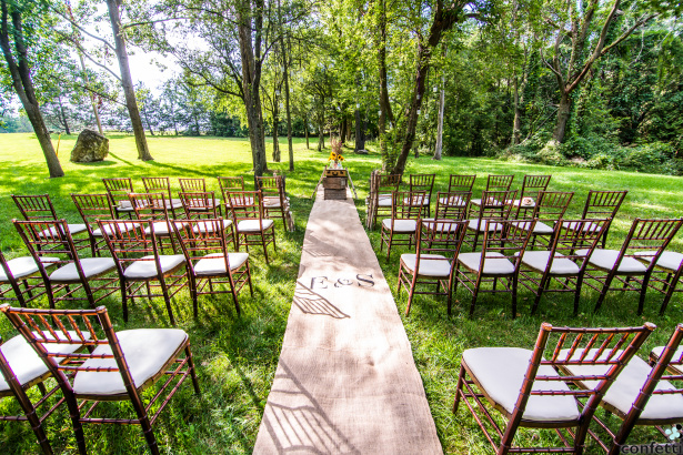 Outdoor Woodland Wedding Ceremony| Confetti.co.uk
