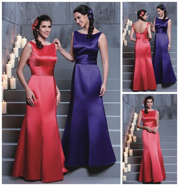 Veromia bridesmaid dresses in Watermelon and Regency | Confetti.co.uk