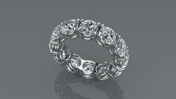 Ring by Jason Charles Jewellery 4ct Diamond Platinum  | Confetti.co.uk