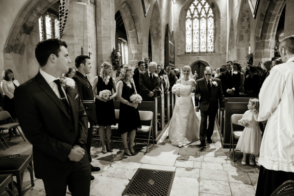 Groom Sees His Bride Walk Down The Aisle | Confetti.co.uk