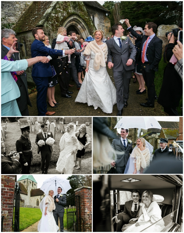 Guests Throw Confetti At Newlywed Couple | Confetti.co.uk