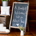 Self-standing chalkboard sign | Confetti.co.uk