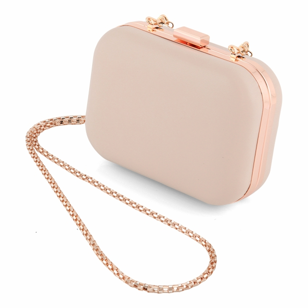 Carolina Nude Clutch Bag From Charlotte Mills | Confetti.co.uk