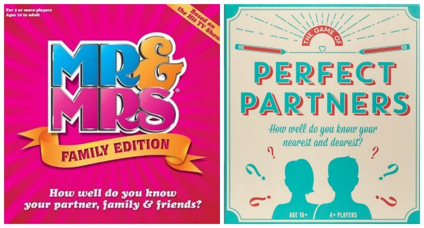 Mr and Mrs and Perfect Partners games | Confetti.co.uk