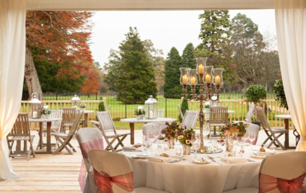 Warbrook House's grounds seen from the dressed reception | Confetti.co.uk