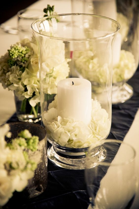 Gorgeous glass centrepiece ideas confetti