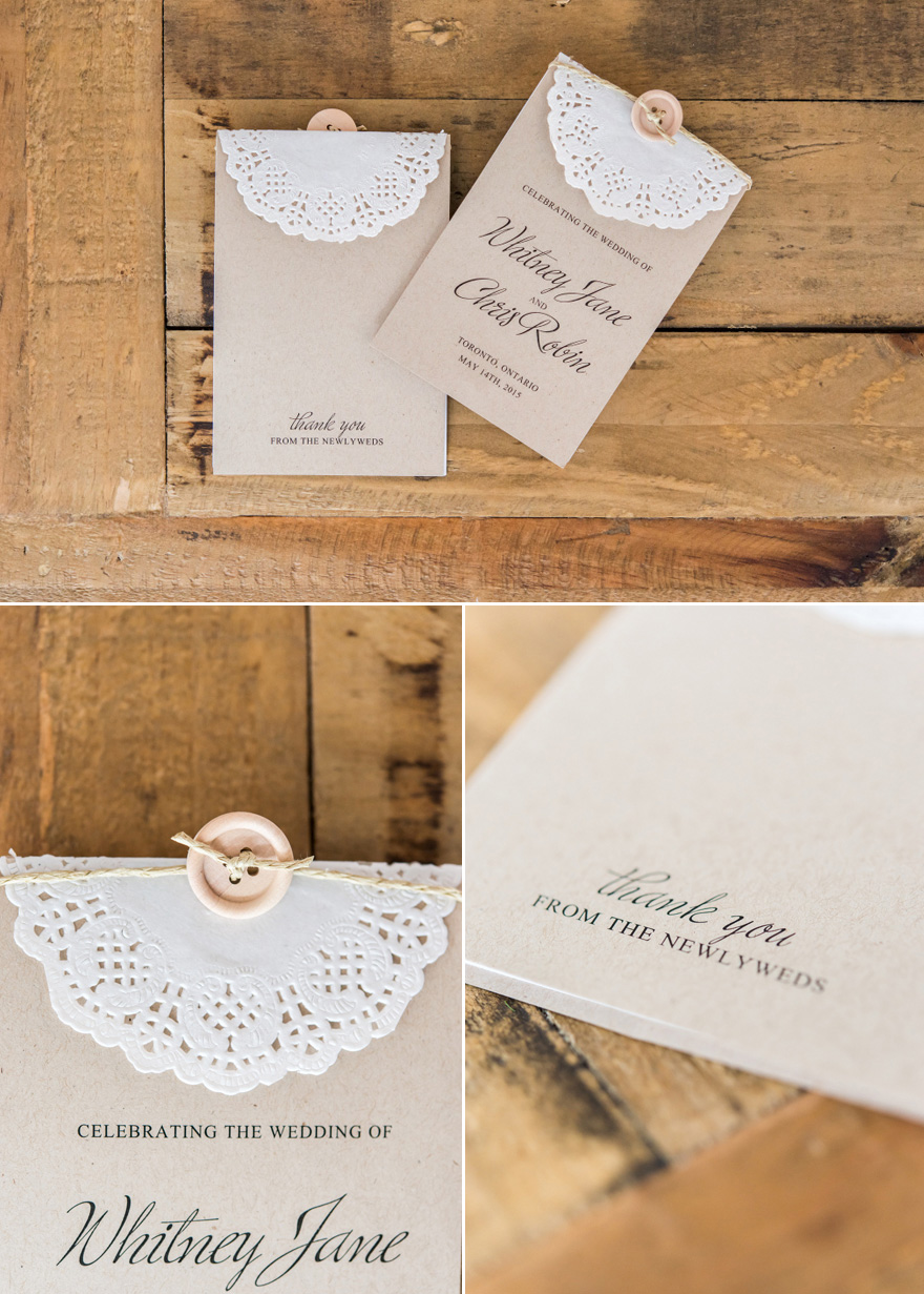 DIY Vintage Rustic Wedding Stationery - Simple Buttons and Twine and Lace Effect Paper Doilies DIY Wedding Invitations   Confetti.co.uk