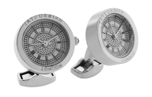 Stainless steel plated cufflinks by Tateossian | Confetti.co.uk