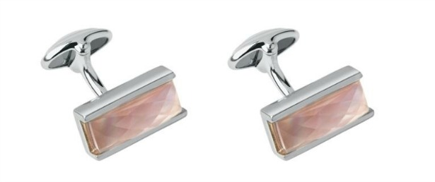 Pink mother of pearl cufflinks by Links of London | Confetti.co.uk