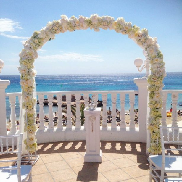 Luxury floral arch by Ibiza Flower Shop   Confetti.co.uk