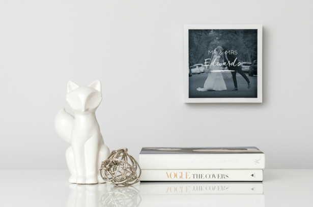 A Memory in a Stylish Frame   Confetti.co.uk