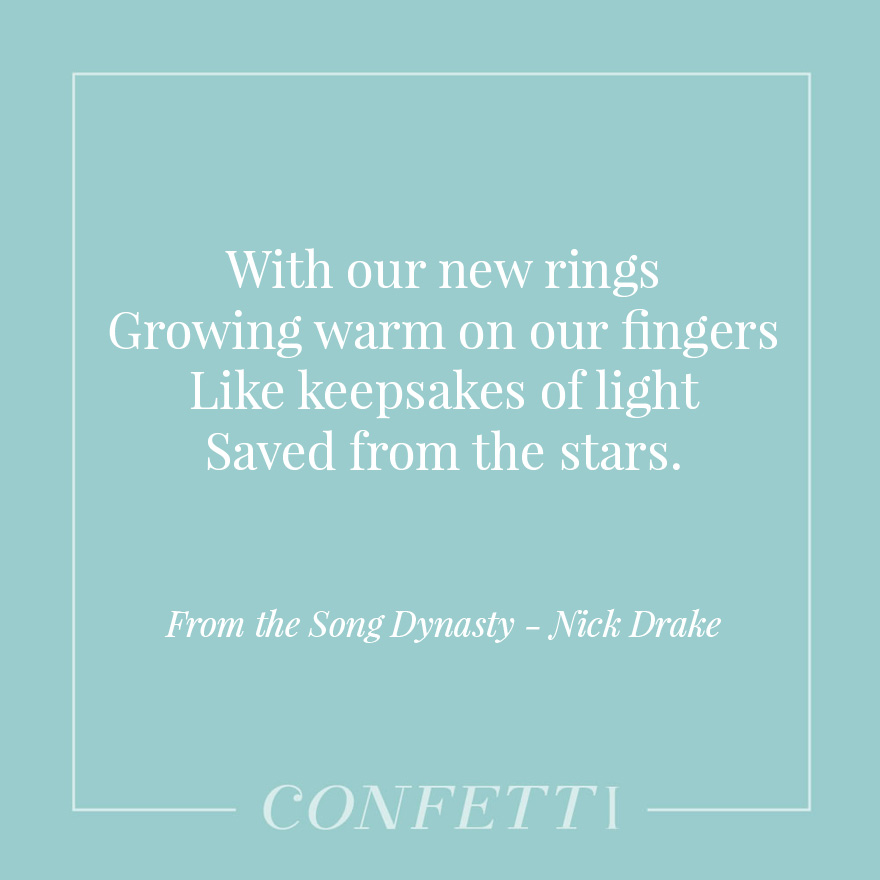 From the Song Dynasty byNick Drake - Keepsakes of Light Saved From the Stars | Confetti.co.uk