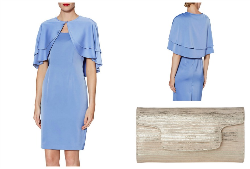 Collette dress and cape with LK Bennett clutch bag at John Lewis | Confetti.co.uk