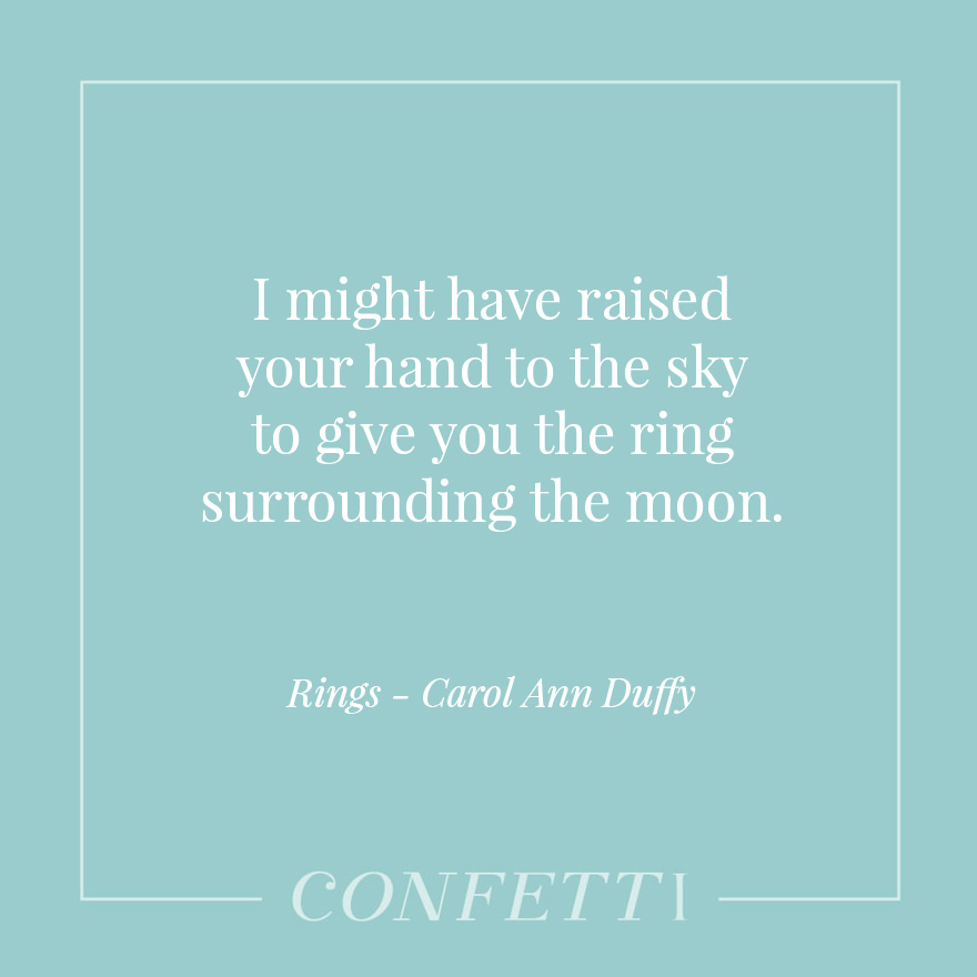 Rings by Carol Ann Duffy - I Might Have Raised Your Hand to the Sky | Confetti.co.uk