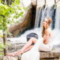 Boho Bride next to a Waterfall | Confetti.co.uk