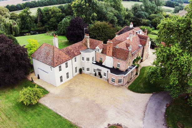 Ariel Shot of That Amazing Place an Exclusive Use Manor House | Confetti.co.uk