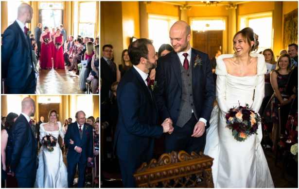 Rosanna and Andy's Ceremony at Their Georgian Manor Wedding | Confetti.co.uk