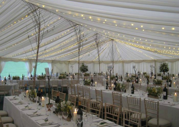 A Richardson Marquee Decorated With Delicate Fairy Lights   Confetti.co.uk