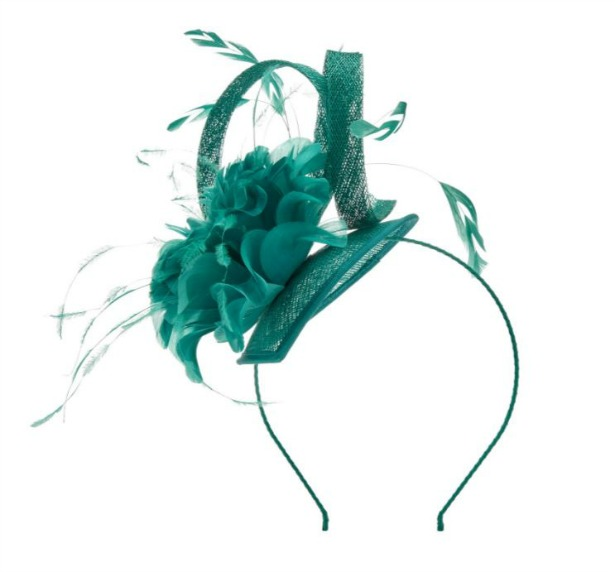 Petite feather fascinator by Jaques Vert   Confetti.co.uk