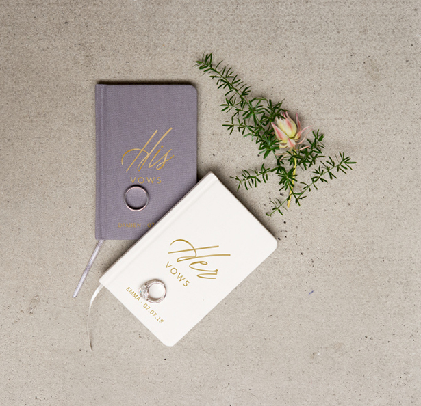 His and Hers Wedding Vow Books | Confetti.co.uk