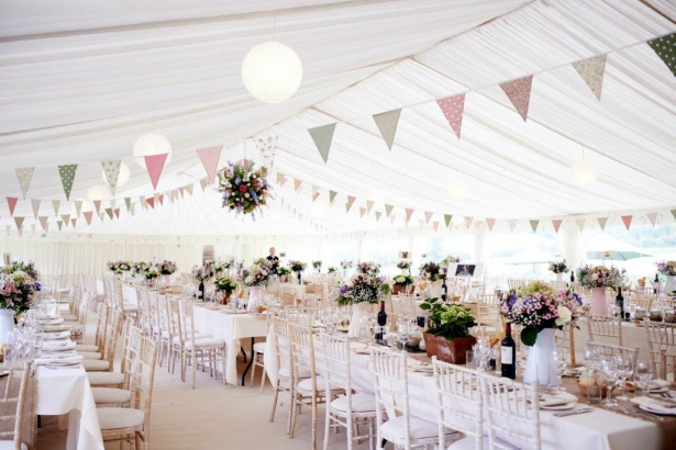 Wedding Marquee Bunting by Richardson Marquees   Confetti.co.uk