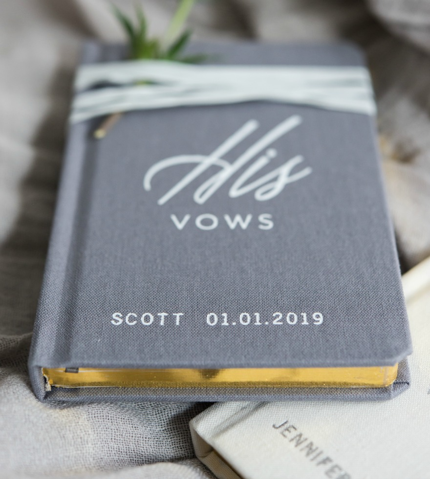 Personalised book of His Vows | Confetti.co.uk