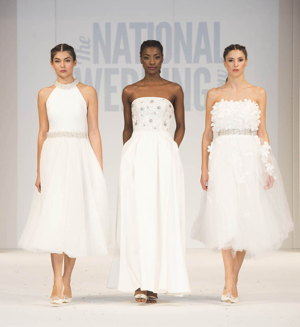 Three brides on the National Wedding Show Catwalk