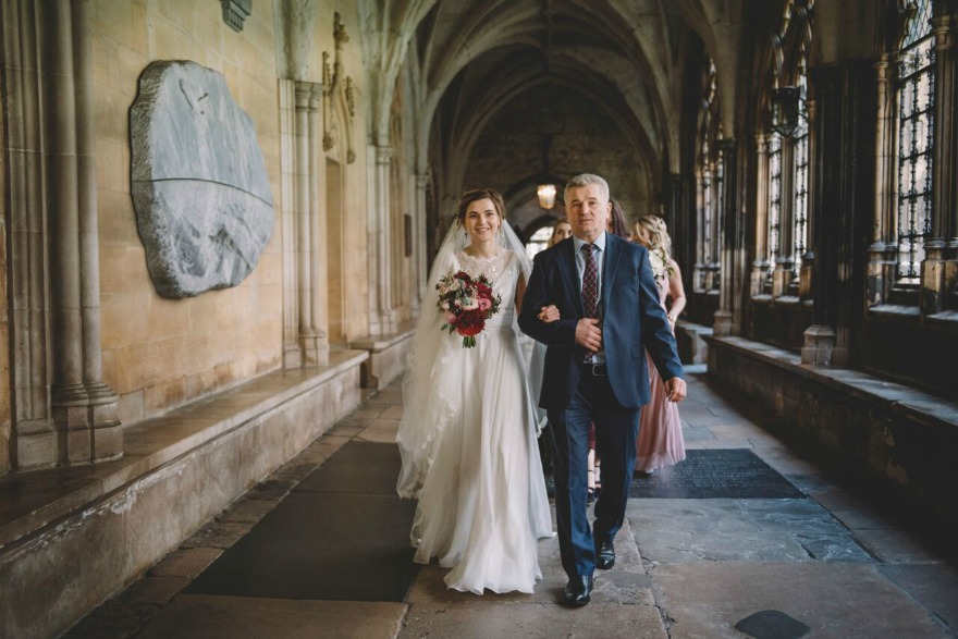 Bride and father Kristina and Max's Real Wedding at Westminter Abbey | Confetti.co.uk