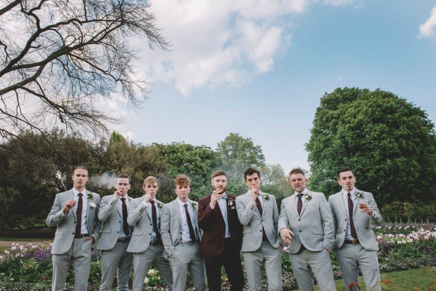 Groom and his men at Kristina and Max's Real Wedding at Westminter Abbey| Confetti.co.uk