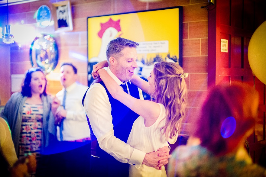 Bride and Groom first dance at soho city wedding   Confetti.co.uk