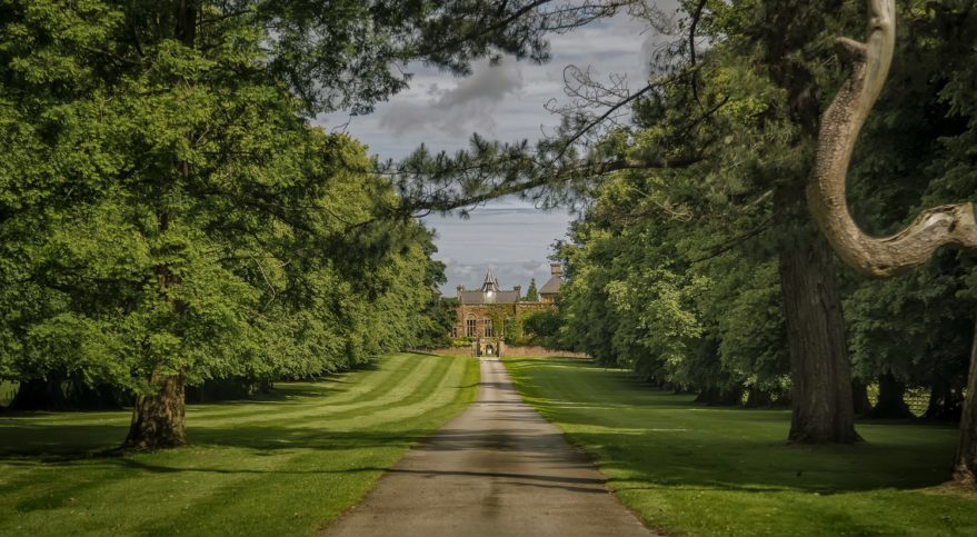 Driveway up to Soughton Hall