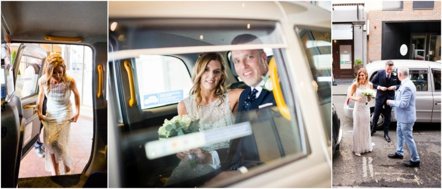 Bride & groom travelling to Soho wedding venue in the city   Confetti.co.uk