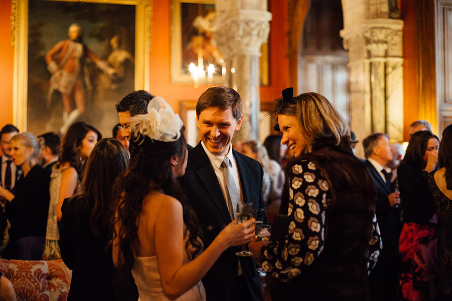 The Intimate Drawing Room Drinks Reception at Mount Stuart by lisadevinephotography