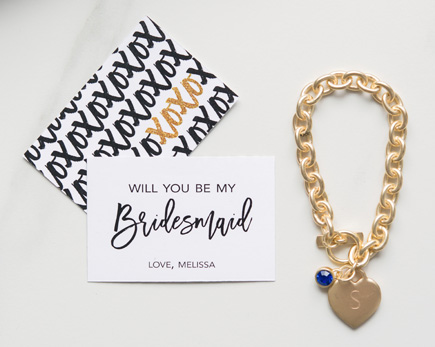 Black and Gold Sparkle Will You Be My Bridesaid Large Rectangular Tag - XOXO   Confetti.co.uk