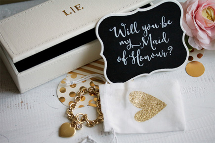 Bridesmaid Made of Honour Jewellery Gift Set   Confetti.co.uk