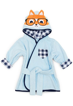Hipster Fox Hooded Bathrobe and Dressing Gown   Confetti.co.uk
