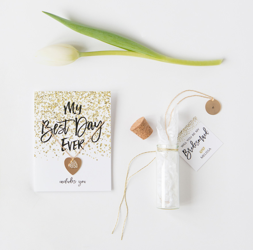 Message in a Bottle diy pretty packages for your bridesmaids   Confetti.co.uk